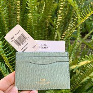 NWT Coach Leather Glitter Card Case